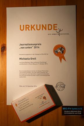 Auszeichnung für tiefgründige und respektvolle Armutsberichterstattung – Zweiter Journalismus-/Medienpreis im Jahr 2014