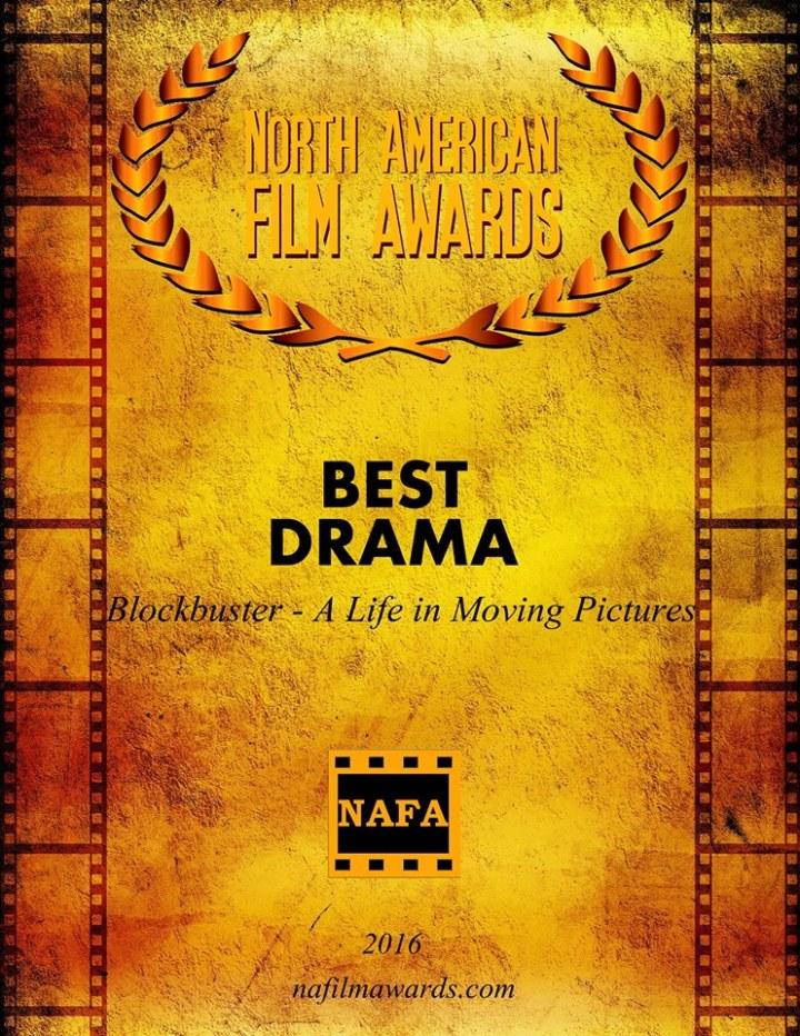 """BEST DRAMA bei den North American Film Awards 2016 für österreichischen Charity-Kinospielfilm """"Blockbuster – Das Leben ist ein Film"""" zugunsten der St. Anna Kinderkrebsforschung"""
