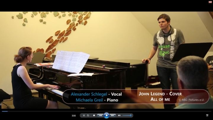 VIDEO: All of Me – John Legend (Cover by Alexander Schlegel & Michaela Greil)  LIVE @Musikschule Linz, 12.6.2017