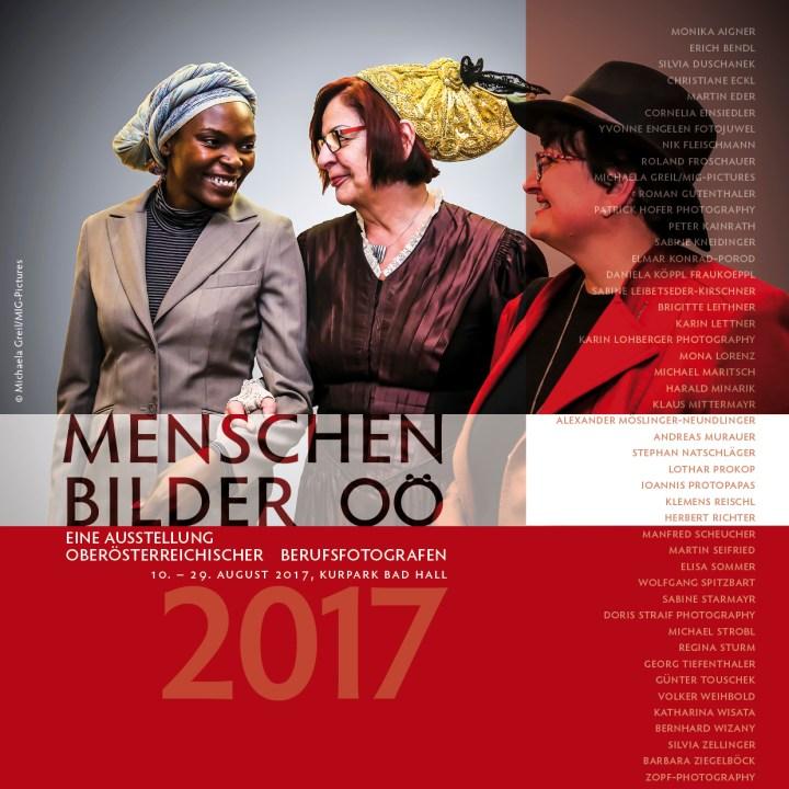 Einladung zur Vernissage & Ausstellung: BAD HALL 10.8.-29.8.2017 – VERLÄNGERUNG: Menschenbilder OÖ 2017, OÖ BerufsfotografInnen 4.5.-29.8.2017