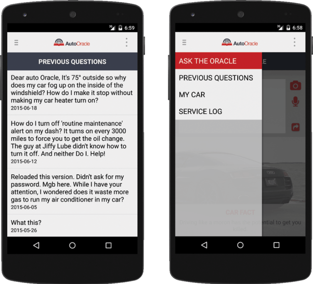 Auto Oracle Android Mobile Application