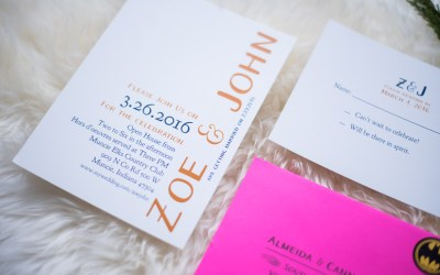Zoe & John Wedding Invitations