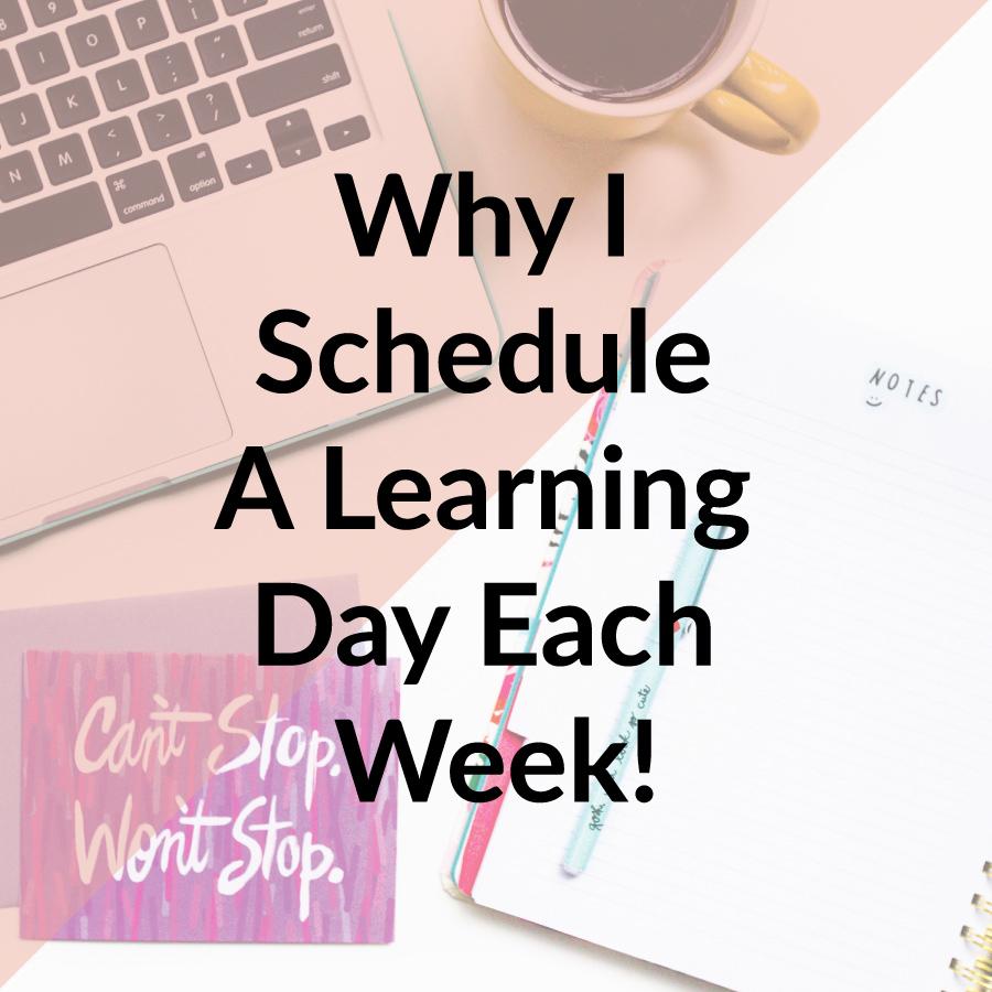 Learning Day Each Week | michaelahoffman.com