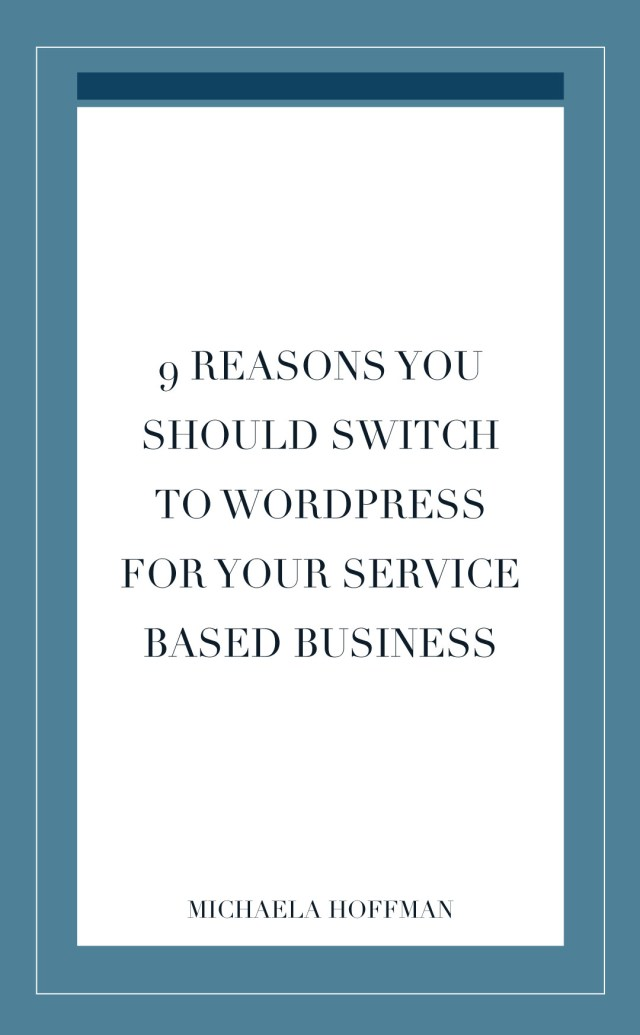 Post title - 9 reasons you should switch to WordPress for your Service based business
