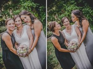 Brautparty Brautjungfern Babybauch Hochzeitskleid