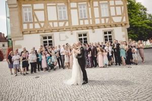 Hochzeitsreportage Schloss Köngen Hochzeit Fotografin Michaela Klose Gruppenfoto