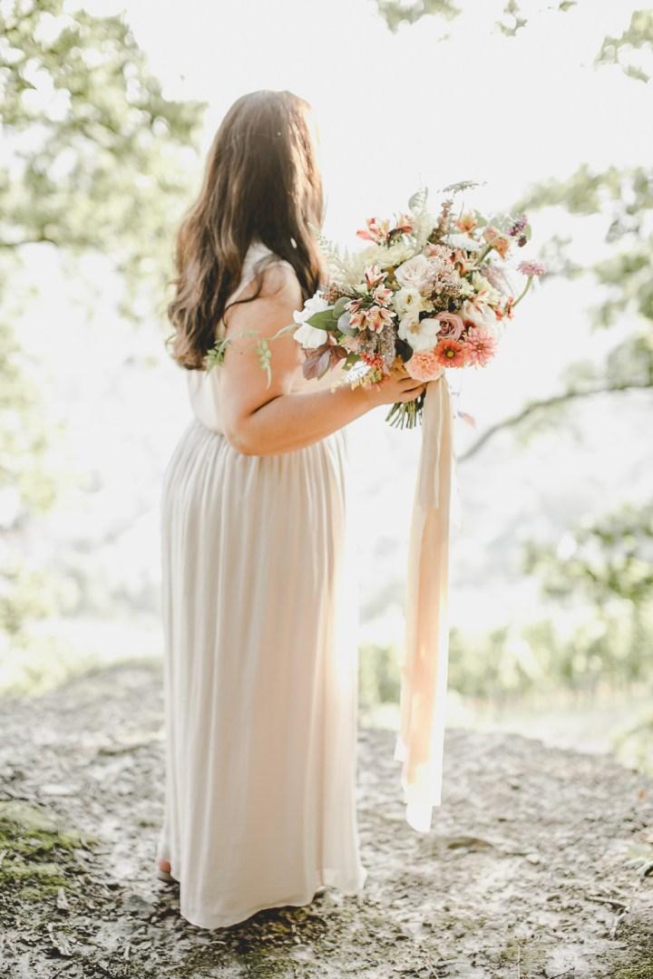 Italien Toskana Brautstrauß Bridal Bouquet Seide weich sanft sommerfarben