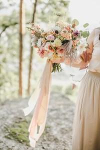 Seidenbänder Brautstrauß Bridal Bouquet