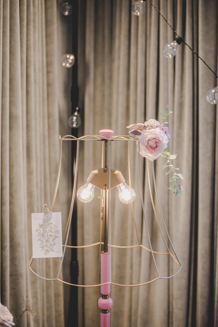 Stehlampe Jutta Pink Michaela Klose Messestand 2018 Hochzeitsmesse