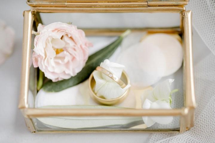 Tiffany Ringbox - Eheringe in Glasbox
