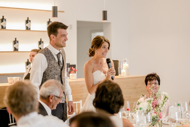 Abends zur Hochzeit Brautrede