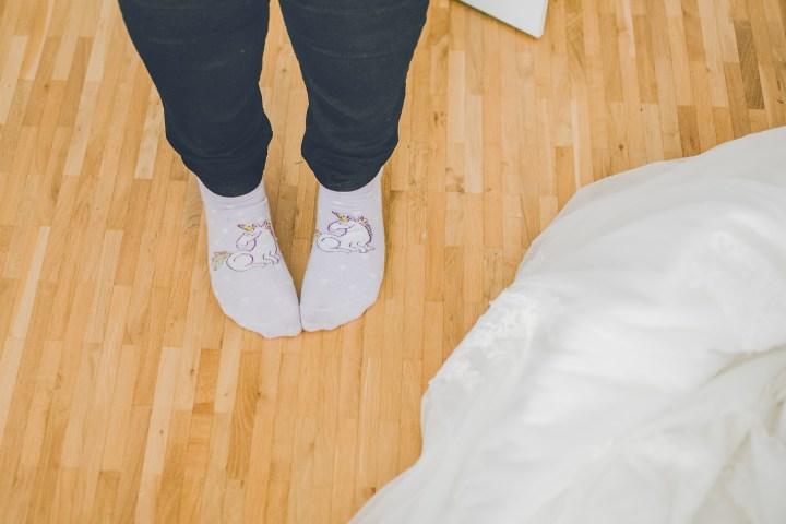 Hochzeitsreportage Getting Ready Socken