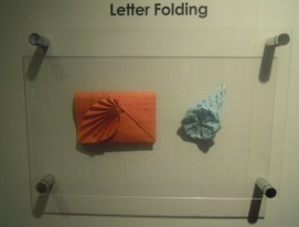 Folded letters at the Singapore Philatelic Museum