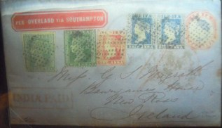 Very old envelope at the Singapore Philatelic Museum