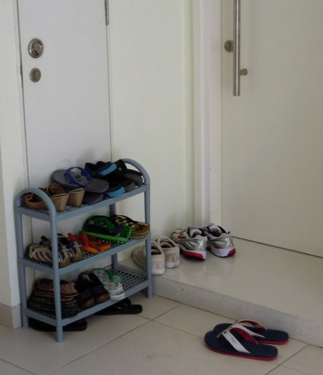 shoes outside door