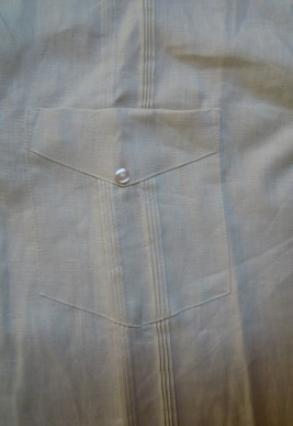 pocket detail on a guayabera