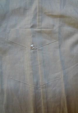pocket detail on a guayabera