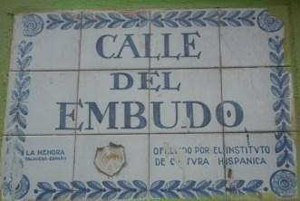 Porcelain tile street sign