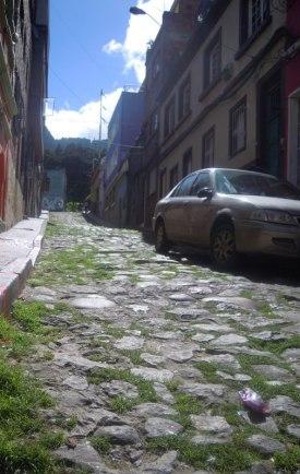 Very old cobblestone street in Candelaria