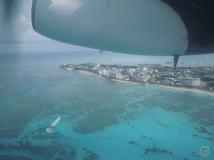 Part of San Andres as seen from the plane