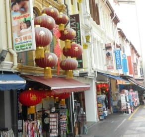 A street in Chinatown Singapore