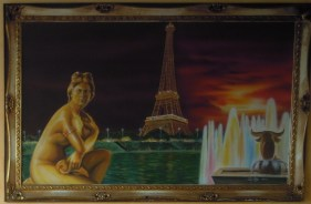 One of the paintings decorating Tomaselly