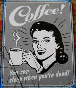 El Altillo coffee sign on wall 320