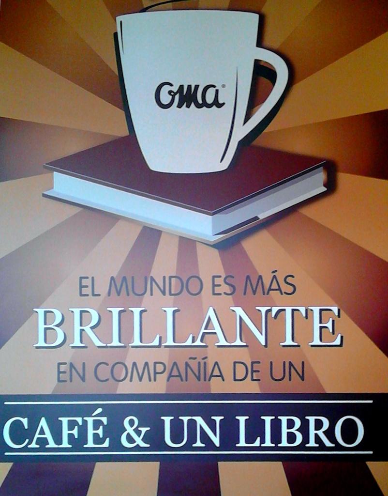 Oma café coffee & book sign