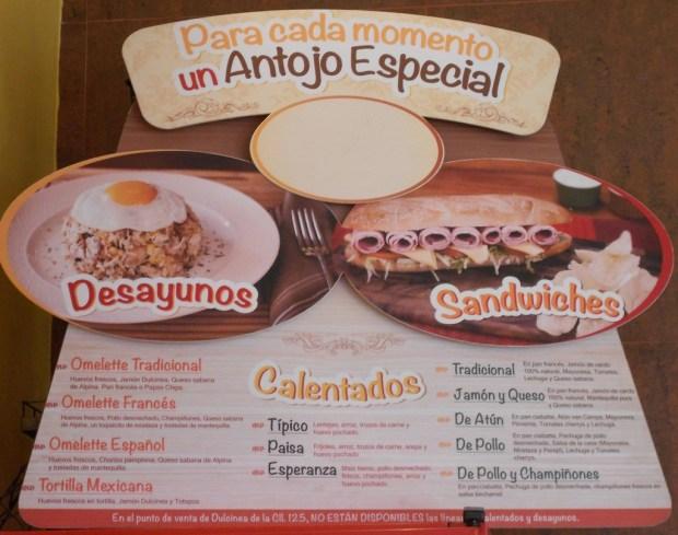 Dulcinea ad menu