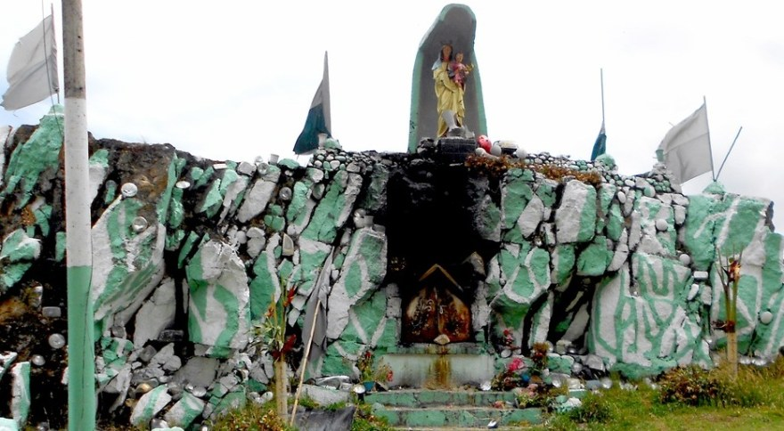 Virgen del carmen shine road to Pacho