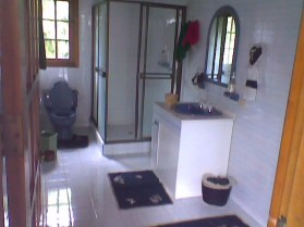 One of the many bathrooms