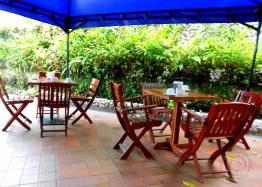 Take breakfast outside by the pool