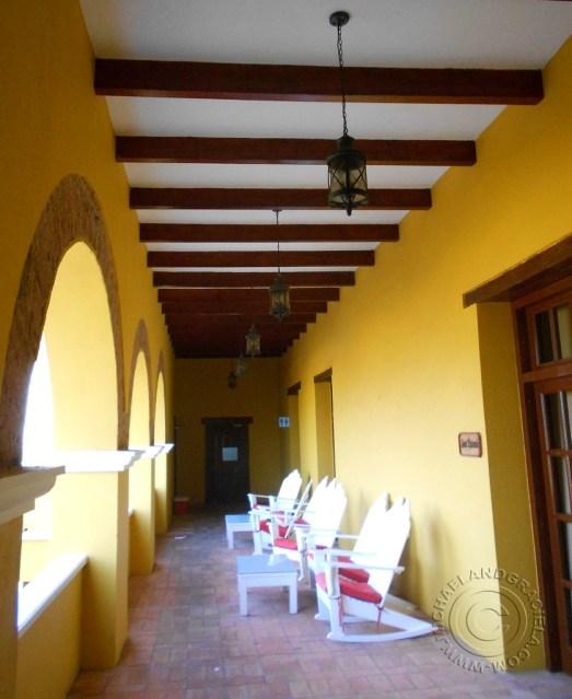 Second floor balcony of Castillo de Salgar