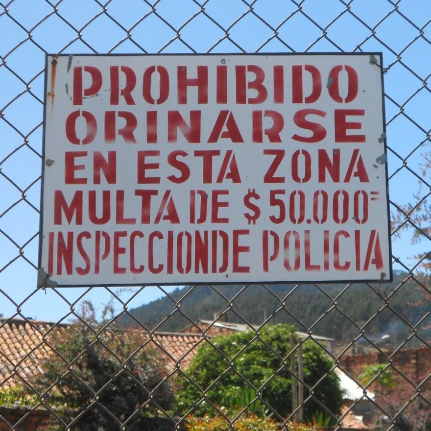 Prohibido Orinarse