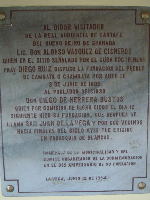 Plaque in center square