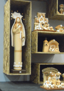 Nativity scenes are available