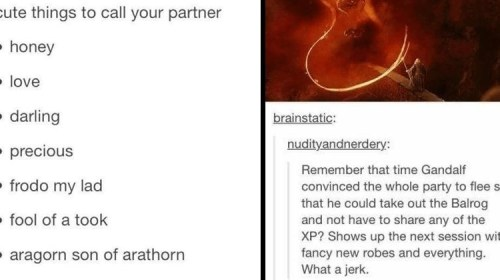 Tolkien-Related Tumblr Posts For LOTR Nerds Who Like Reading Lots Of Text