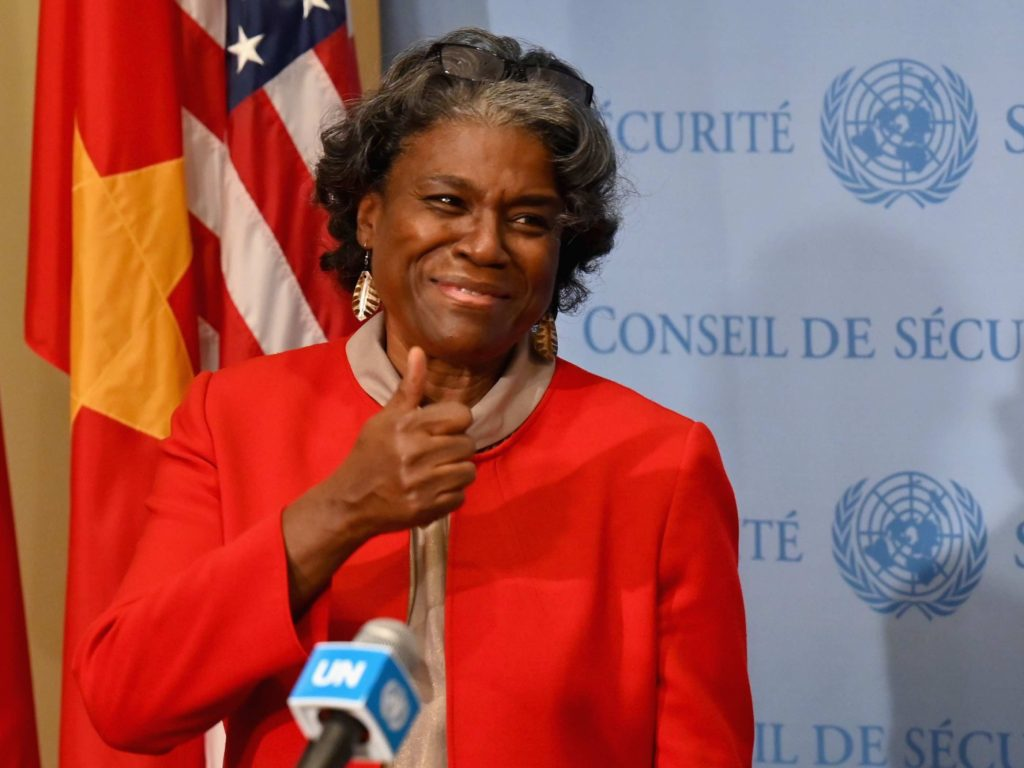 WATCH: U.N. Ambassador Linda Thomas-Greenfield Tells Al Sharpton Group: 'White Supremacy' in America's 'Founding Documents and Principles'