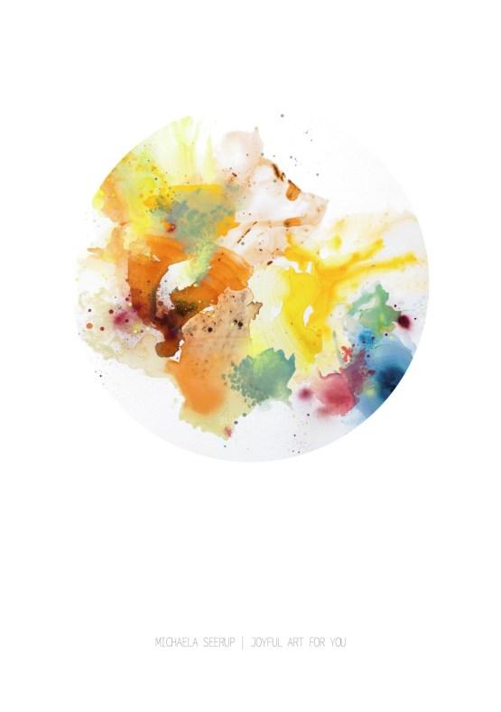 Farverig kunst Sun color circle