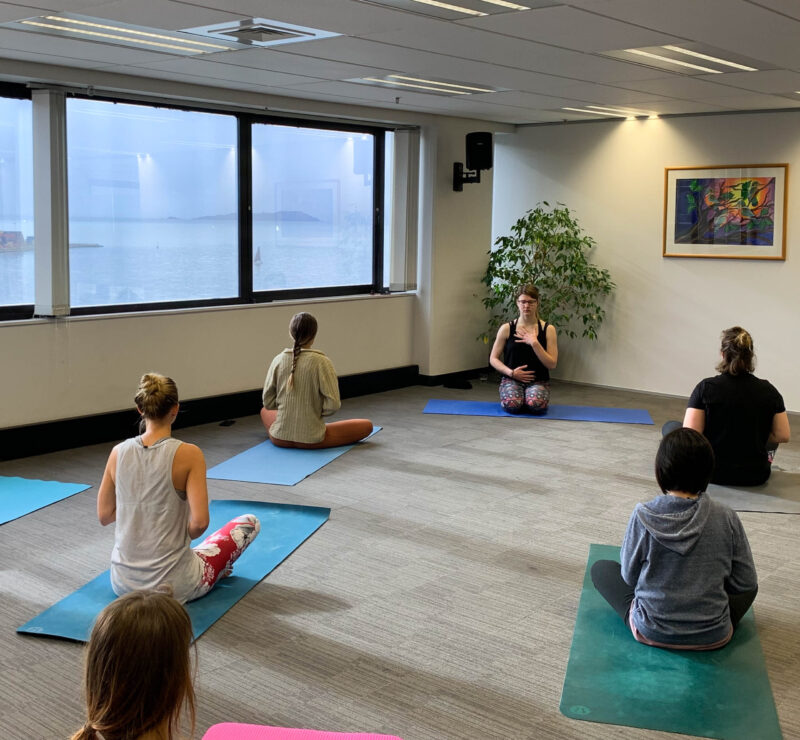 Michaela Simova is Teaching a Calming Hatha Yoga Class in Wellington