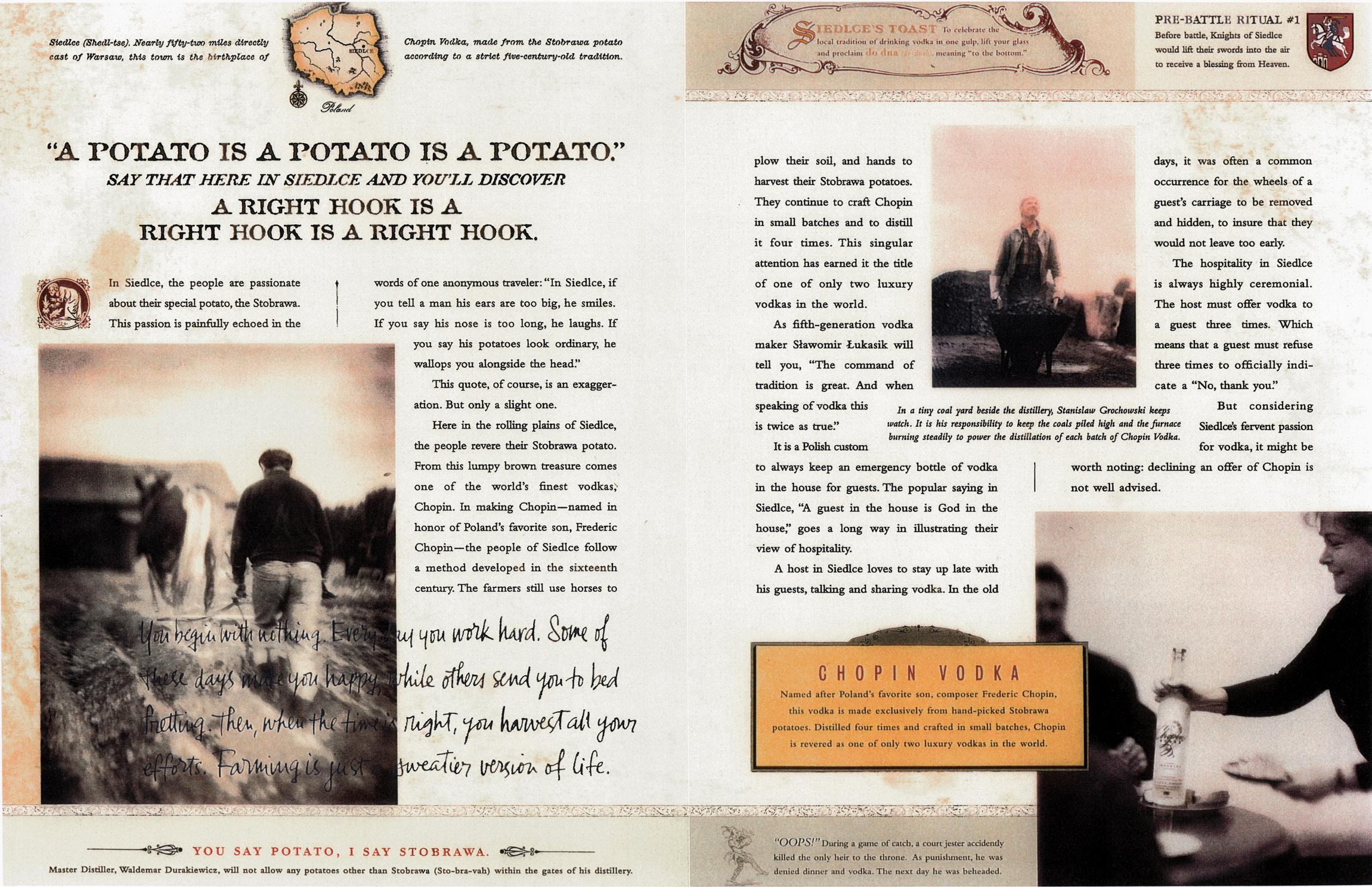 Print Campaign Belvedere & Chopin Vodka Michael Atkinson Creative