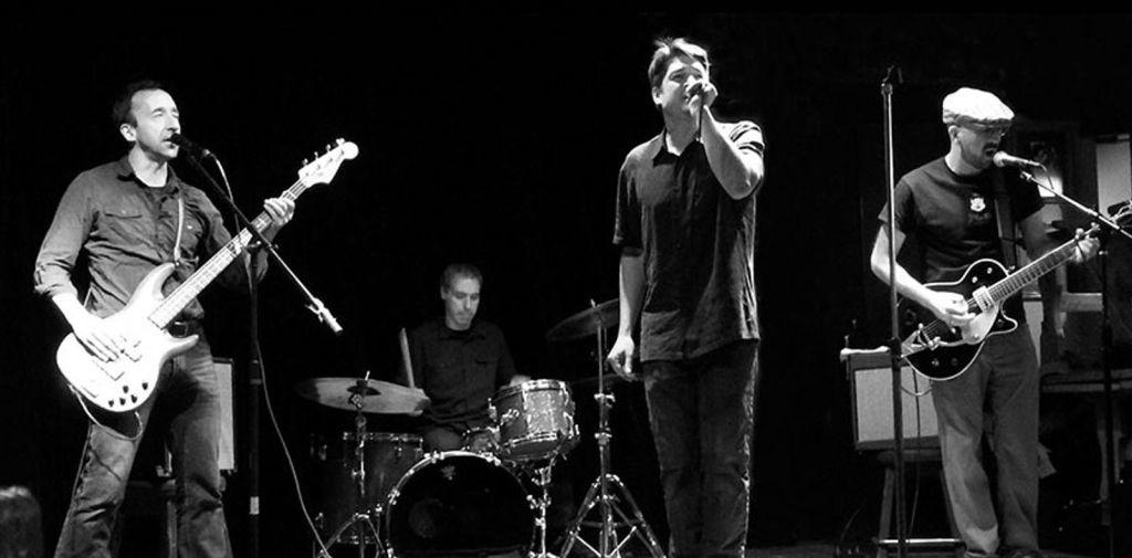 The Rockmores performing live in Boston, pre-COVID.
