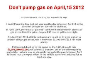 Don't Pump Gas on April 15 (graphic)