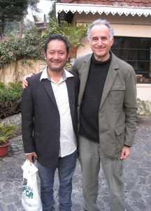 Gandhi School Michael with violin teacher