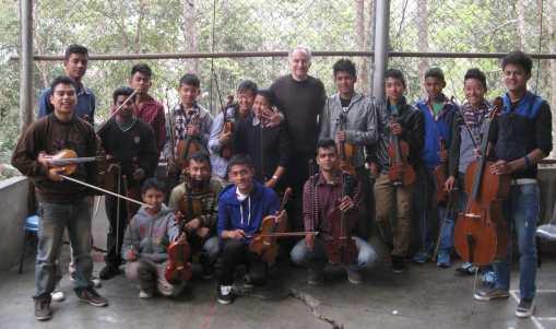 Gandhi School in Kalimpong Children with Michael
