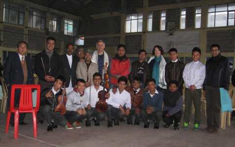 Gandhi Students Michael Ursula Raab after Darjeeling Concert Feb 26 2014