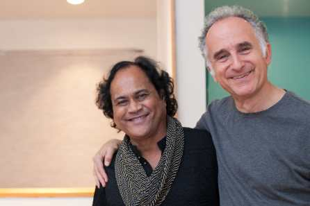 With His teacher and friend Krishna Bhatt Sept 15 2012