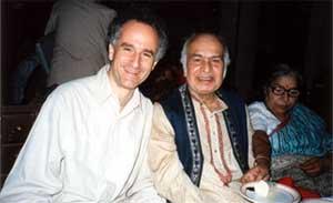 With his Guruji (teacher) - V.G. Jog