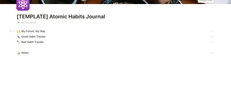 atomic habits journal | Notion Template