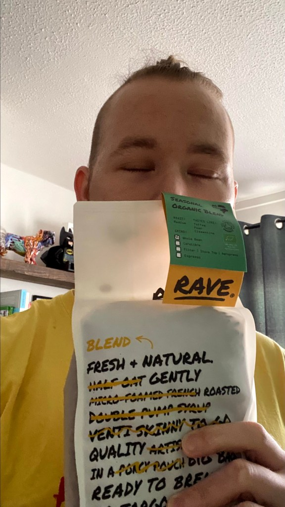 Seasonal Organic Blend No 7 Rave Coffee beans